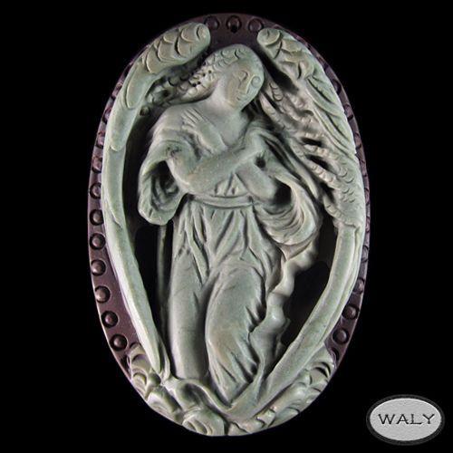 Carved XL Angel Ribbon Jasper Bead | eBay