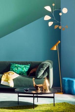 Ran An Die Trendfarben Sonnenglanz Trifft Waldgrun Bild 7 Strukturierte Wande Wandfarbe Farbige Wande