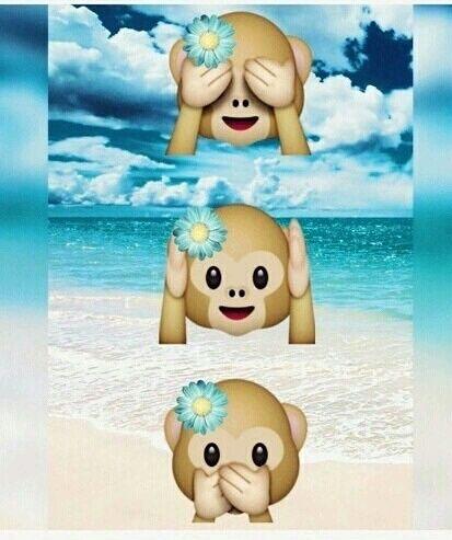 Monkey Emoji And Beach Image Monkey Emoji Wallpapers Cute Emoji Wallpaper Emoji Wallpaper