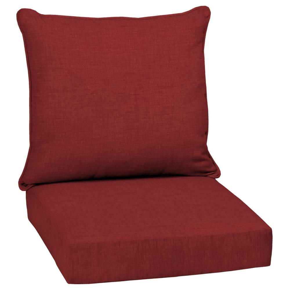 Arden Selections 24 X 24 Ruby Leala Texture 2 Piece Deep Seating Outdoor Lounge Chair Cushion Deep Seat Cushions Outdoor Deep Seat Cushions Deep Seating