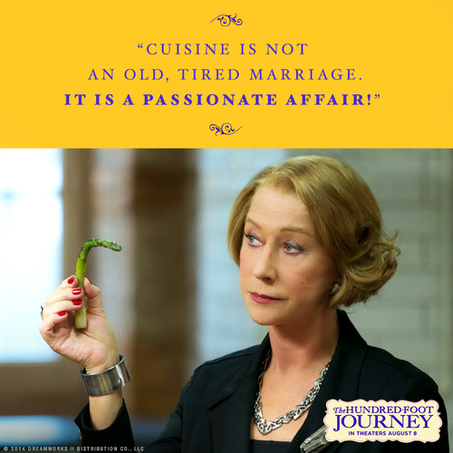 Re-pin if you're excited to see Academy-Award winner Helen Mirren as Madame Mallory in The Hundred-Foot Journey ~ To be released on Friday {August 8!}