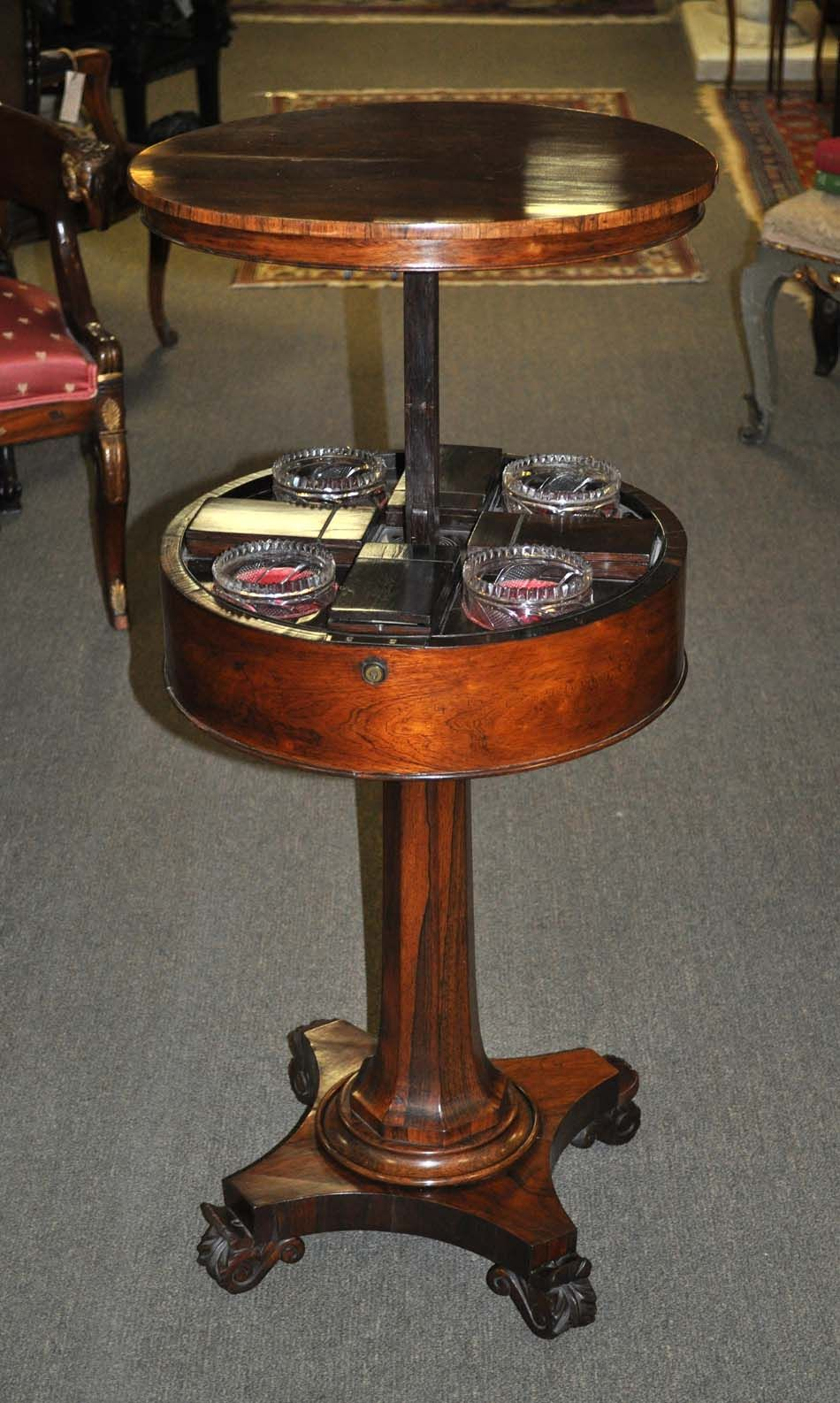 Charmant English Regency Rosewood Rising Top Teapoy Tea Caddy C. 1820 | Olde Mobile  Antiques Gallery U2013 Mobile, AL