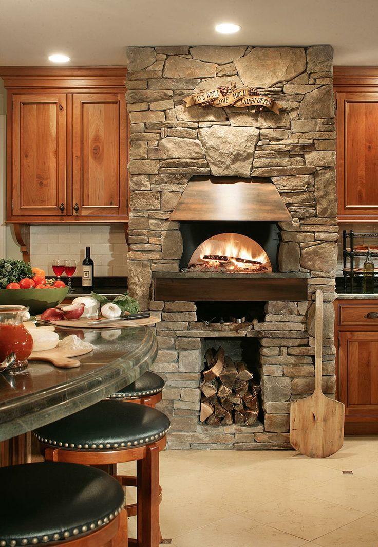 Bilotta Traditional Kitchens Pizza Oven Kitchen Fireplace