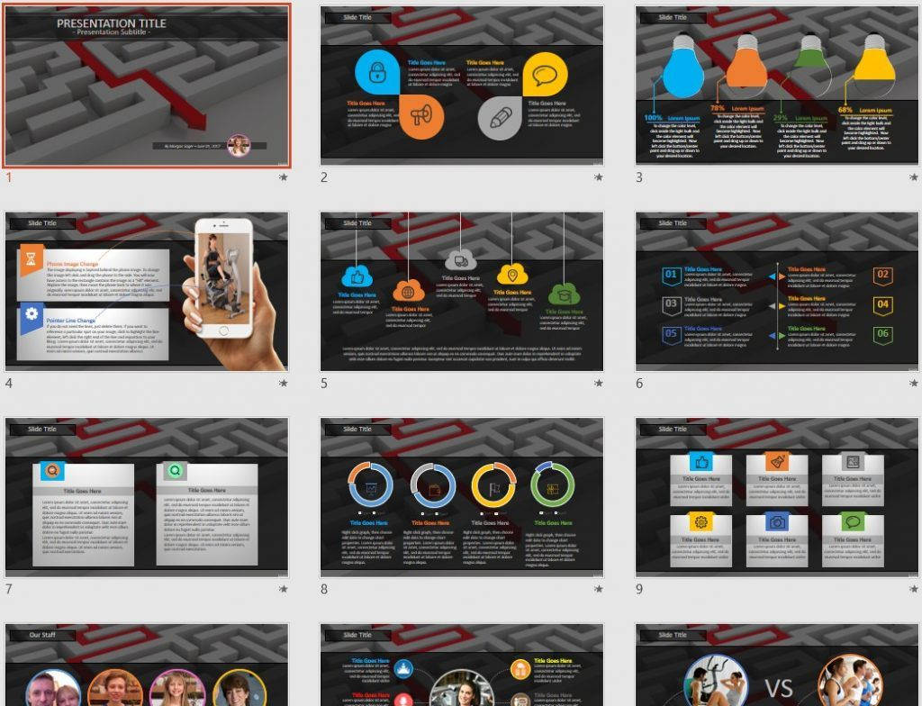 getting through maze powerpoint free powerpoint templates by