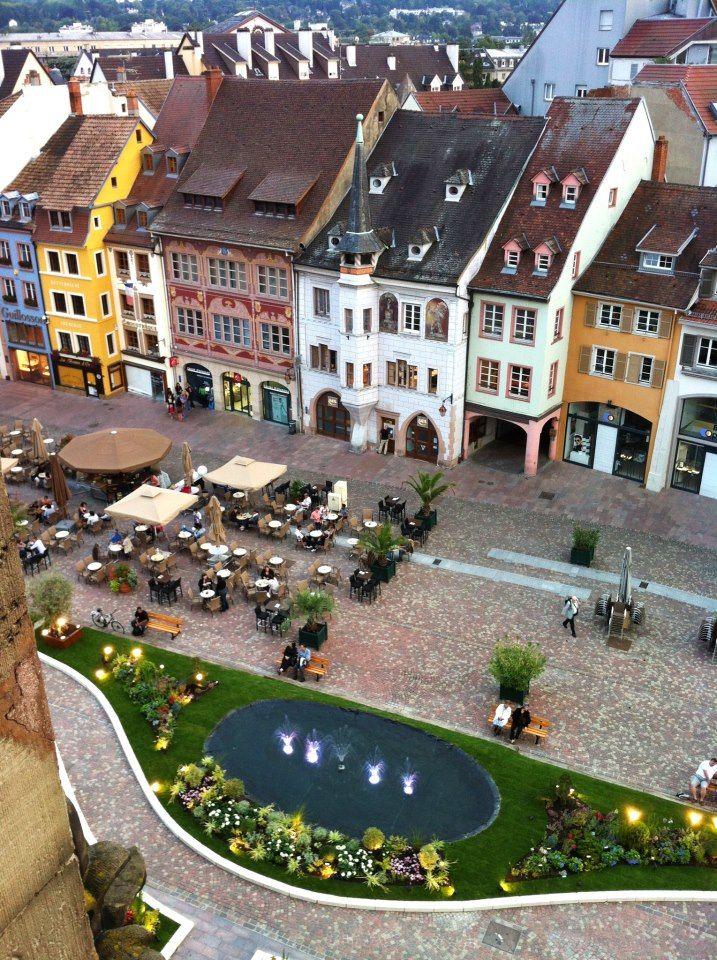 Vue de la place de la réunion - Mulhouse