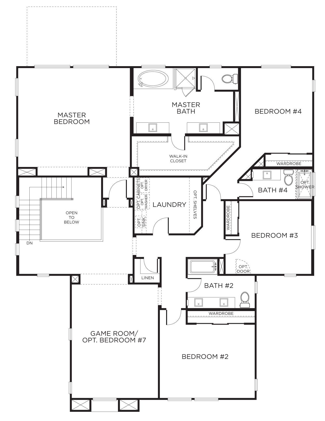 Master Bedroom Suite Layouts Meadow Ridge Plan 4xa With Gensmart Suite Separate Living Space
