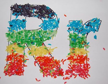 rice activities for preschoolers r is for rice dye rice with food coloring and then glue 410