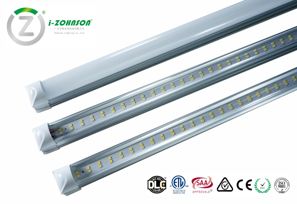 Dlc Etl Listed T8 1200mm 4 Foot 18w Double Lines Integrated Flat