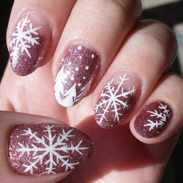 Here are the 9 Snowflake Nail Art Designs for winter. Make your ...