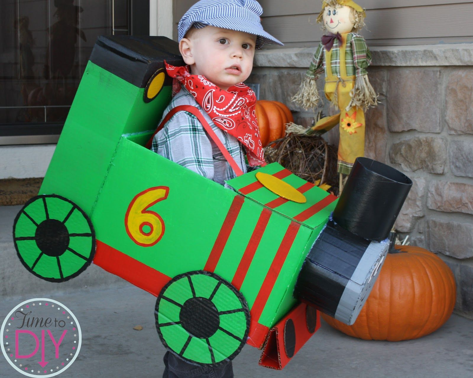 Time To Diy Train Percy Halloween Costume Thomas The Train Costume Diy Halloween Costumes For Kids Halloween Costumes For Kids