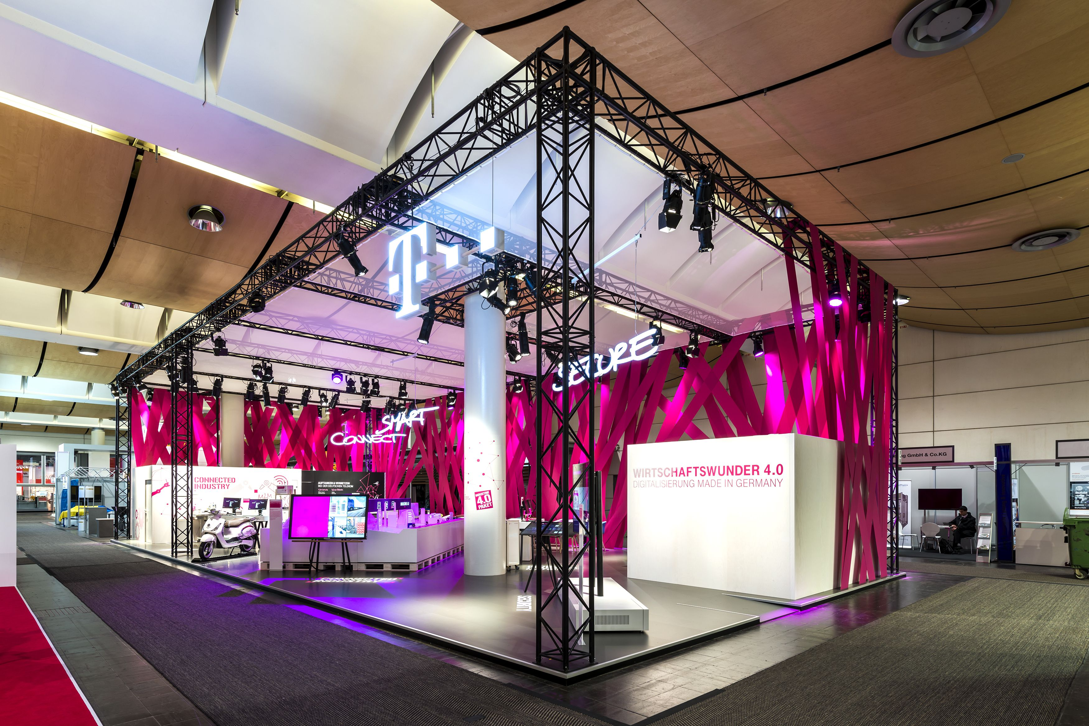 Exhibition Booth Concept : Deutsche telekom stand hannover messe brand