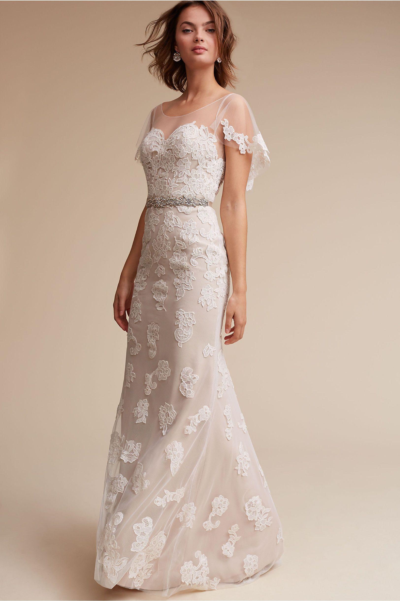 Sierra\' Wedding Dress | Flutter sleeve, Bridal gowns and Bodice