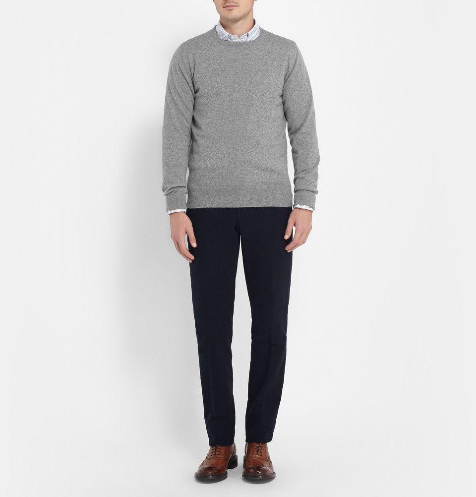 William Lockie Oxton Cashmere Crew Neck Sweater | MR
