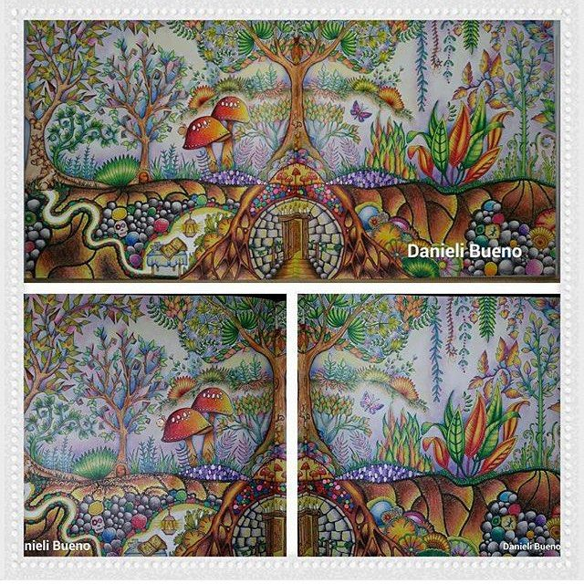 Underground Burrow Enchanted Forest Enchanted Forest Coloring Book,  Johanna Basford Enchanted Forest, Enchanted Forest Coloring