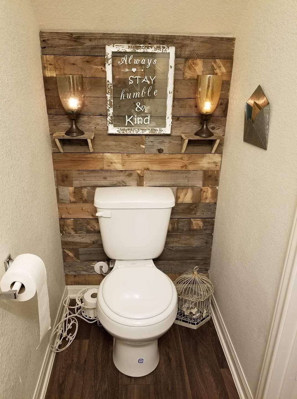 Diybathroomremodelrusticbath In 2020 Rustic Bathroom Diy Half Bathroom Decor Restroom Decor