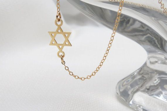 e512ad55761 Gold Necklace Gold Star Of David Necklace Dainty by HLcollection, $28.00