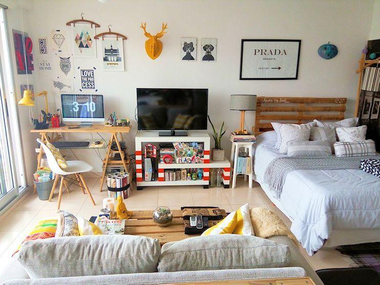 Estilo y dise o en pocos metros un depto peque o en for Decoracion vintage apartamentos pequenos