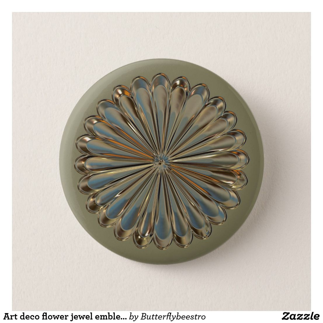 Art deco flower medallion button the products i have created in my