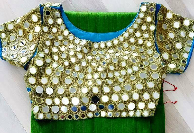 Gorgeous Mirror Work blouse designs (With images)   Mirror ...