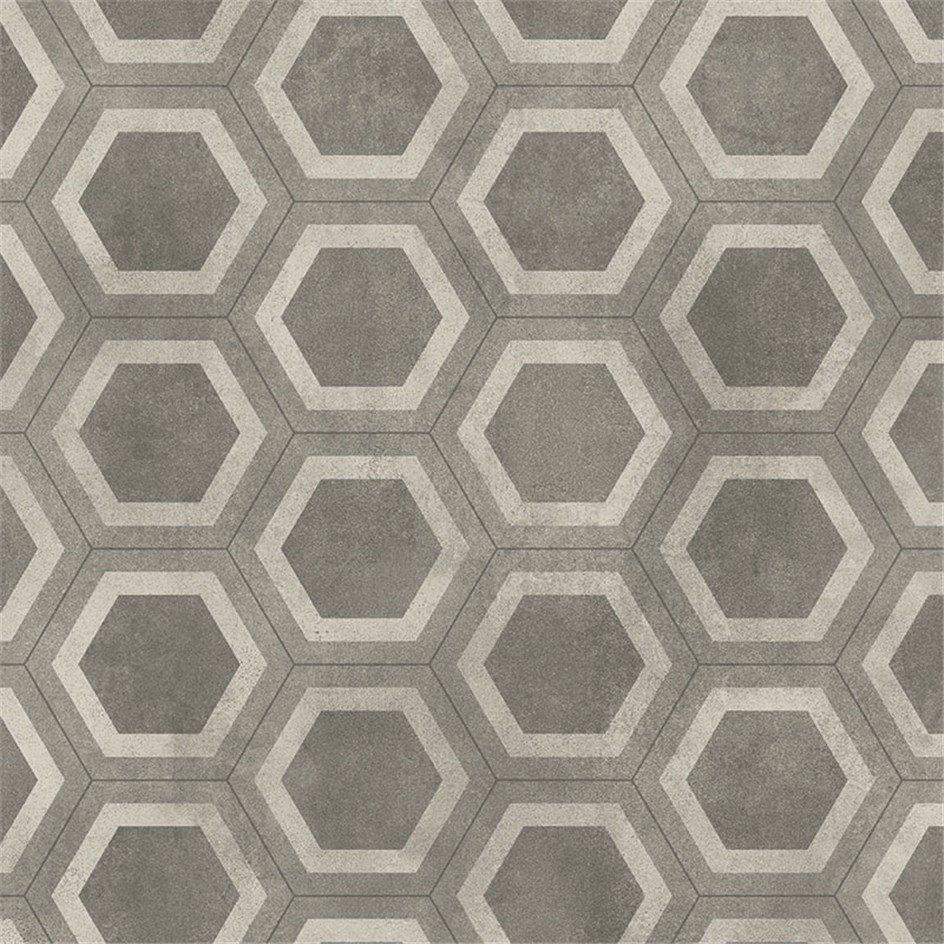 v trumsmatta tarkett aquarelle honeycomb tile grey home d co honeycomb tile tiles et. Black Bedroom Furniture Sets. Home Design Ideas