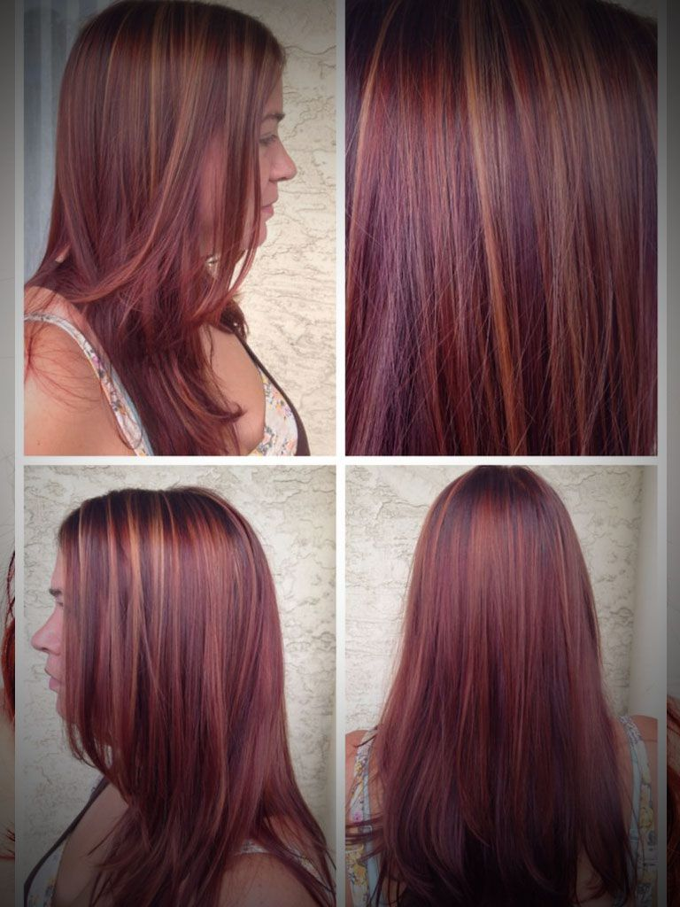 Caramel And Red Highlights For Brown Hair Brown Hair