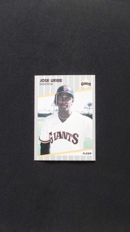1989 Fleer 345 Jose Uribe San Francisco Giants Shortstop Baseball