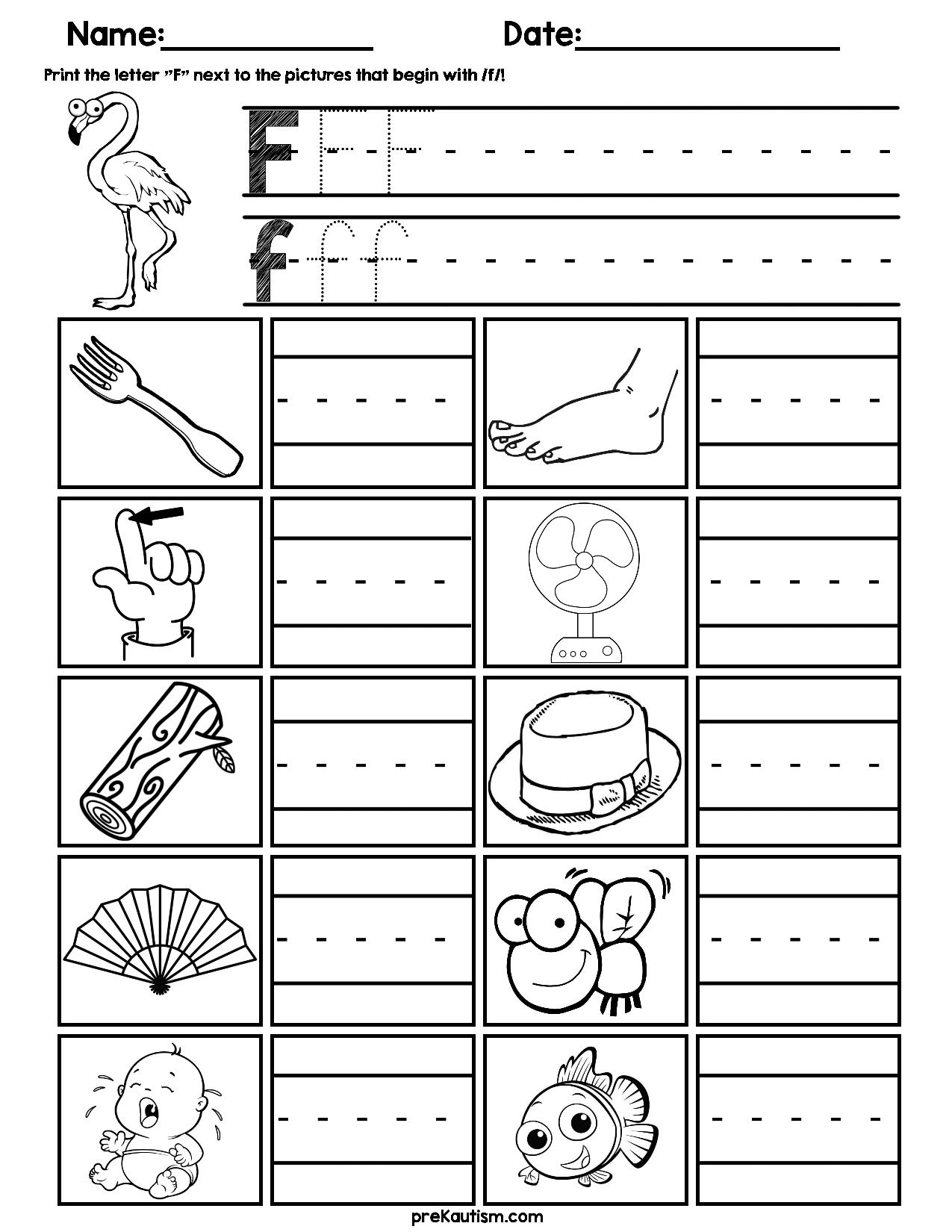 Kindergarten Consonant Worksheets