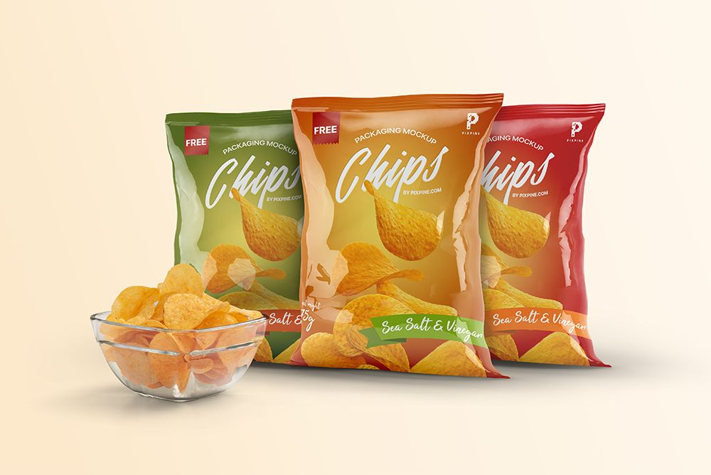 Download Free Chips Bag Packaging Mockups Chip Packaging Chips Free Mockup