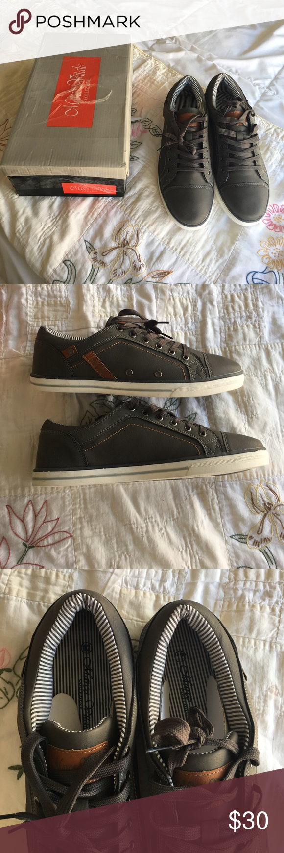 Marco Vitale Men's Sneakers Brand new, gray and brown sneakers. Man-made material. Size 12 Marco Vitale Shoes Sneakers
