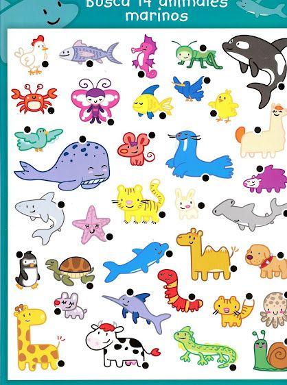 Actividades Cognitivas Busca Animales Marinos Actividades Cognitivas Actividades Divertidas Para Niños Actividades De Aprendizaje Preescolares