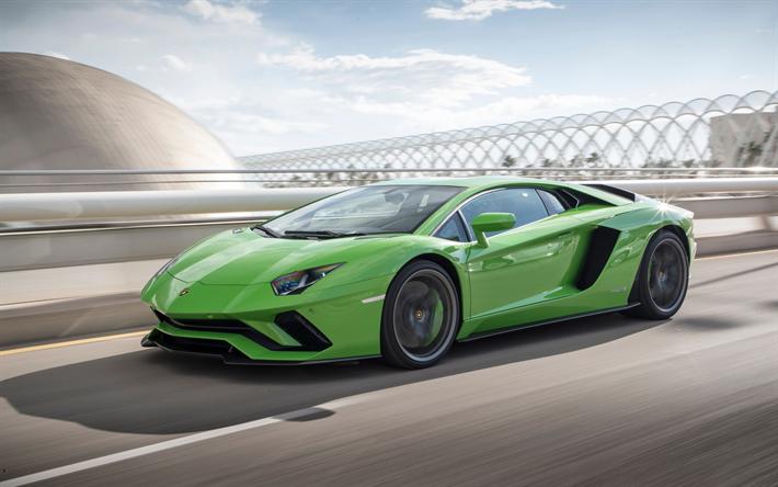 Free Download Free Green Lambo: Download Wallpapers Lamborghini Aventador S, 2017