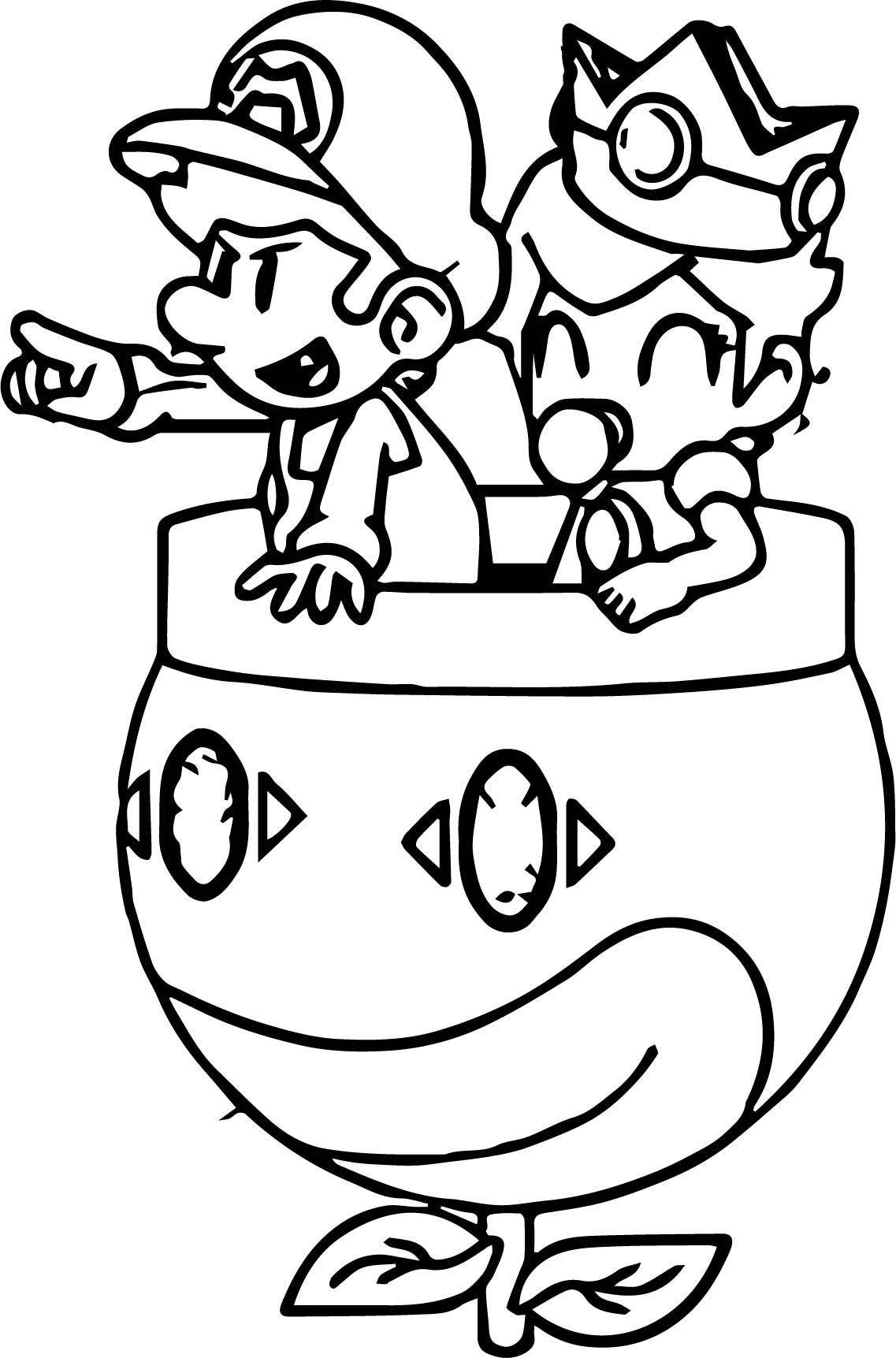 awesome Daisy And Mario Go Coloring Page Mario coloring