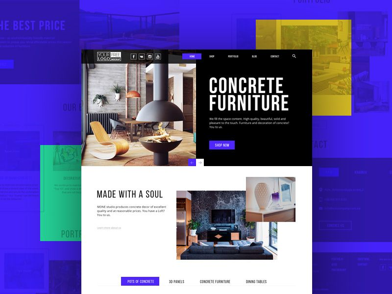 Modern Furniture Store Template Free PSD PSD Web Templates