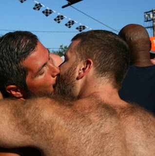 Gay Hairy Men Kissing