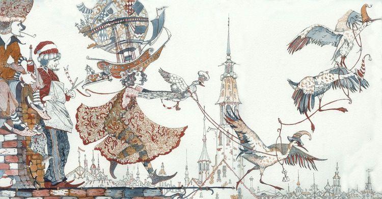 Сообщество иллюстраторов / Иллюстрации / Фролов Петр / «В полет с журавлями».