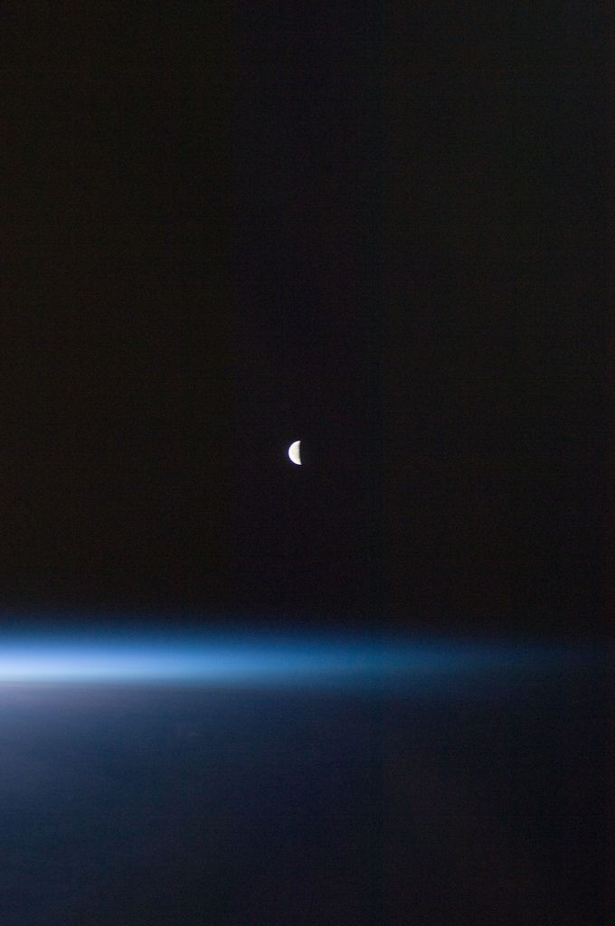 Last Quarter Moon (NASA, International Space Station, 08/22/11) (by NASA's Marshall Space Flight Center)