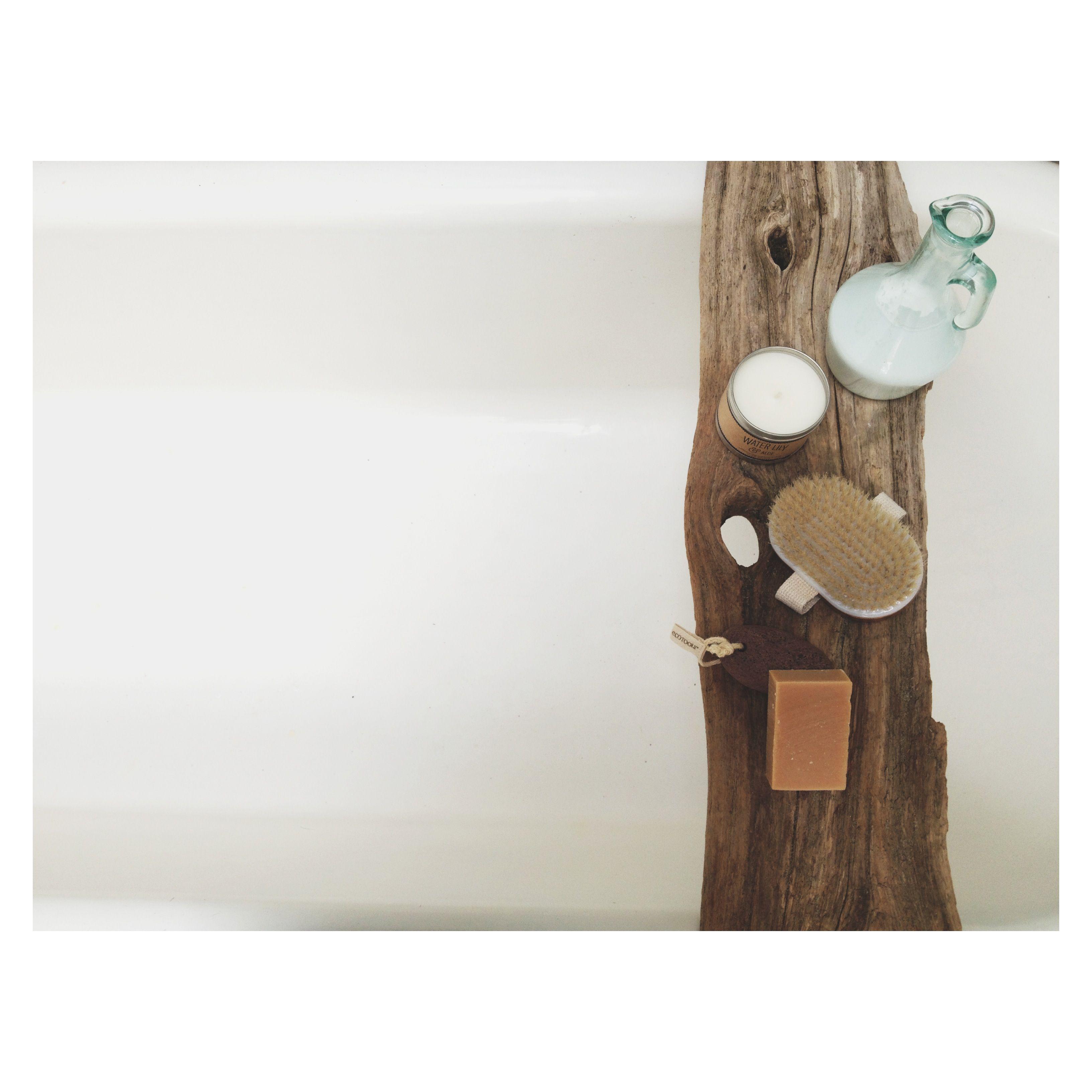diy, rustic bathroom, bathtub caddy, wood     O u r s     Pinterest ...