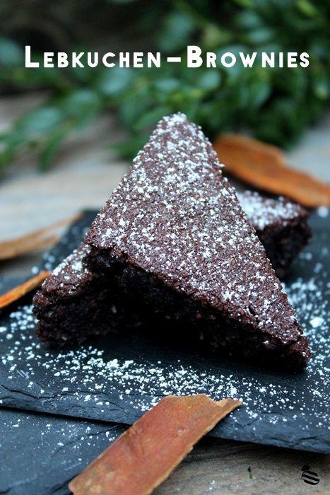 Weihnachtliche Lebkuchen-Brownies + Gewinner • Schokokuss und Zuckerperle