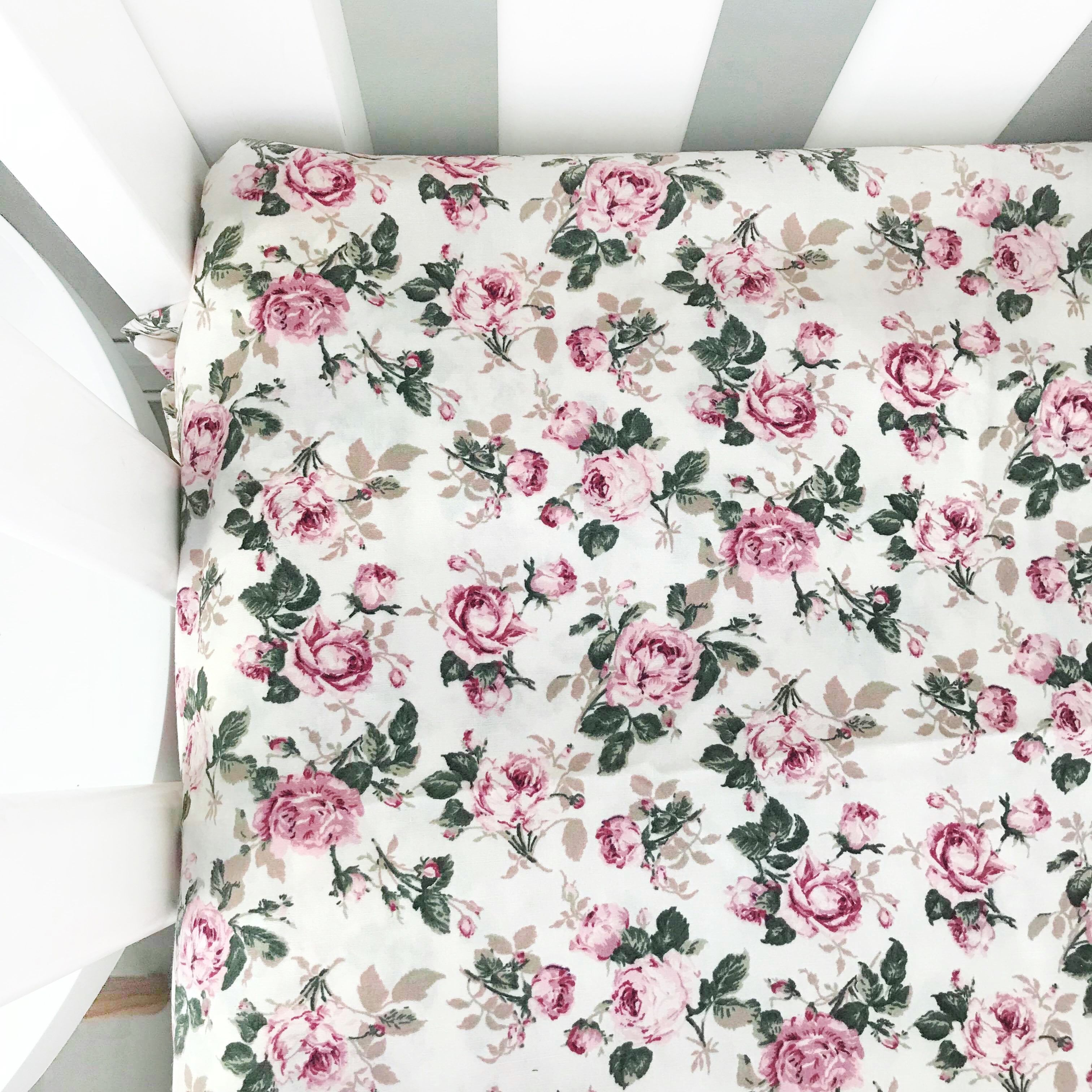 Vintage Rose Fitted Sheet Fitted Sheet Baby bedding Crib