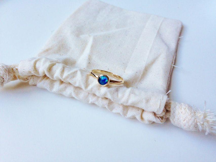 Moontide opal ring 14kt gold - LAKOTA JEWELLERY.