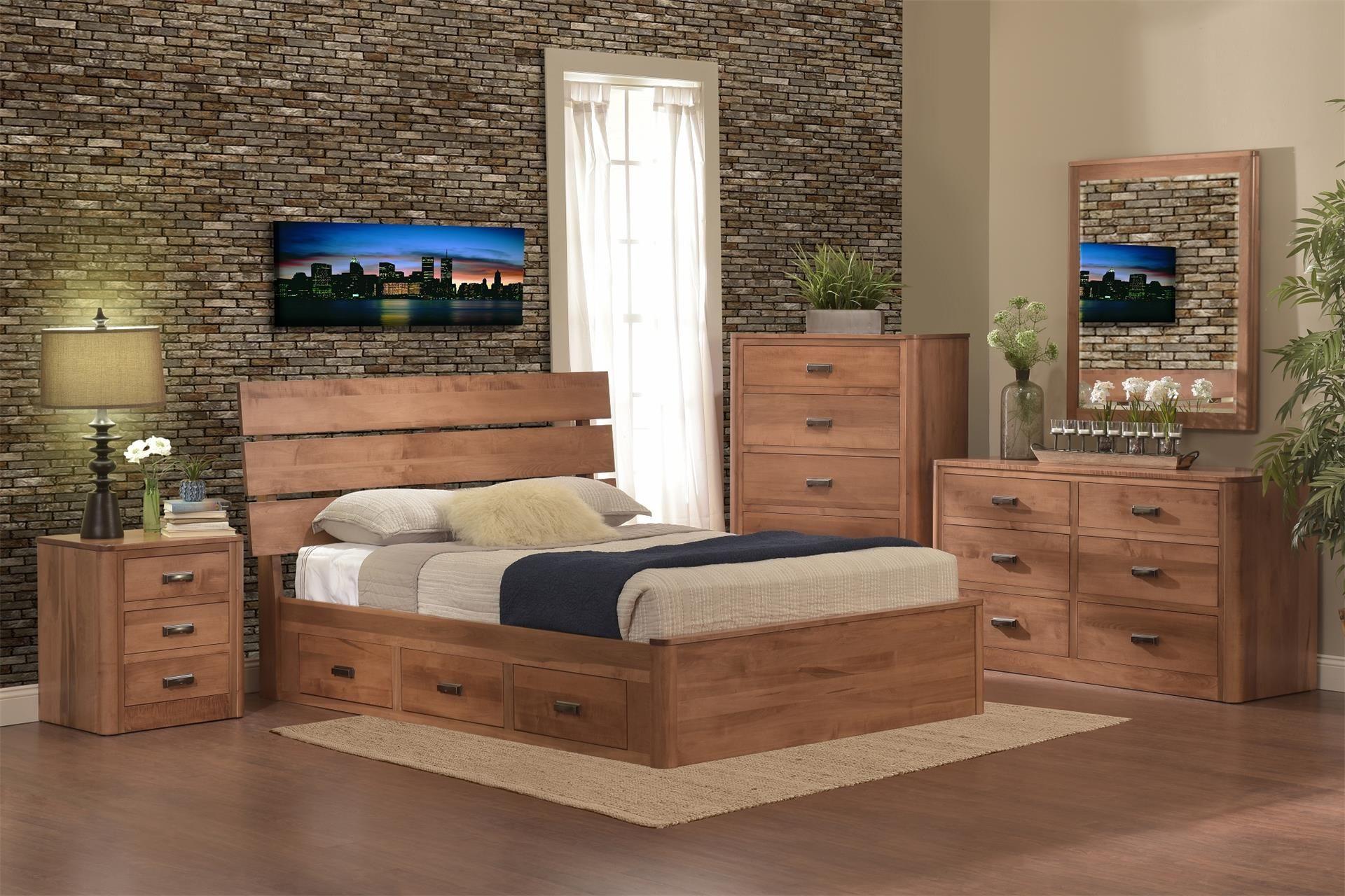 Amish Galaxy Storage Bed Bedroom Suite Millcraft Bedroom Collection The  Amish Galaxy Storage Bedroom Set Brings