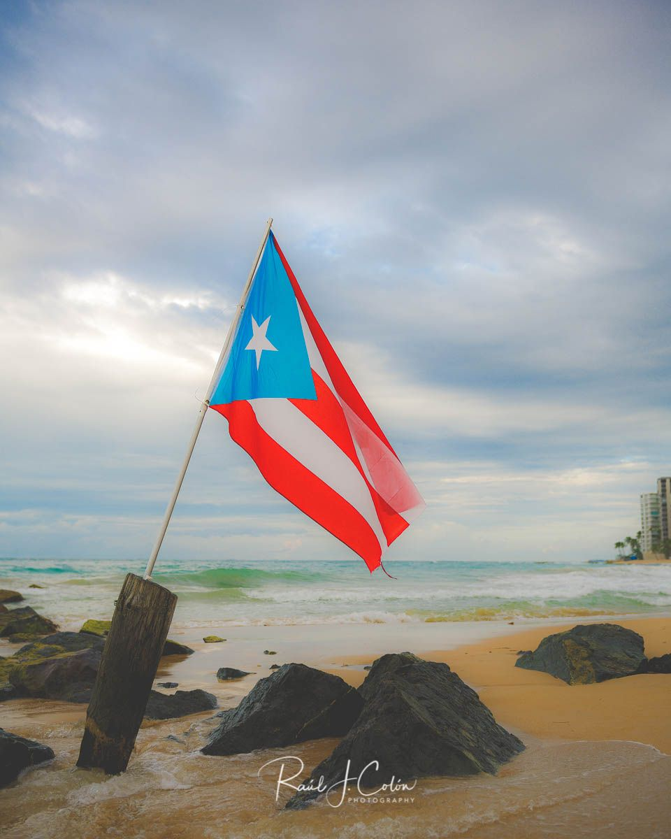This Original Puerto Rican Flag Was Flying In San Juan S Condado Beach It Reflects The Original Colors Puerto Rican Flag Puerto Rico Island Puerto Rico Flag