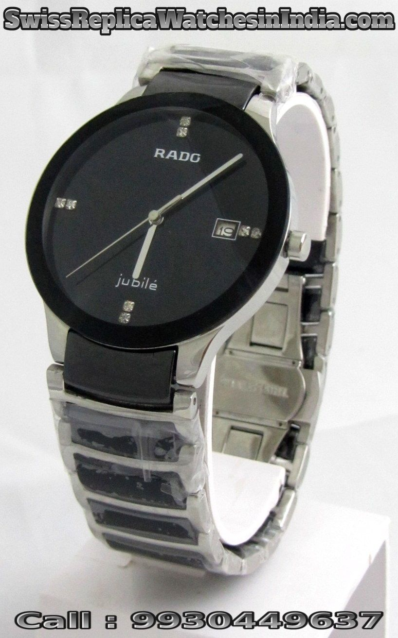 Rado 1st Copy Watches In Chandigarh Available On Www Swissreplicawatchesinindia Com Rado Full Black Firs Silver Bracelet Watch Watches For Men Bracelet Watch