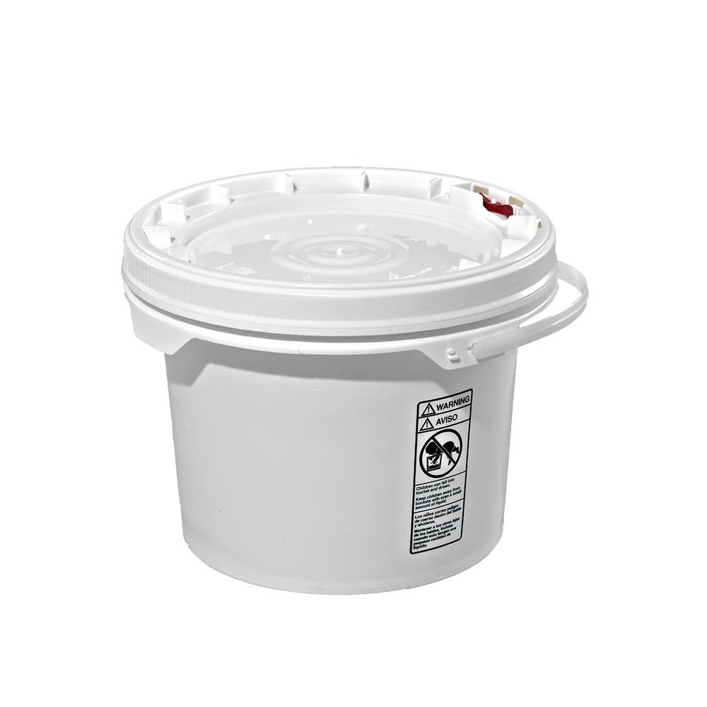 Illing Part 3091m And 3092m 3 5 Gallon White Plastic Screw Top Pail W Plastic Handle Plastic Screw Top Open Head P Metal Containers Plastic Pail Screw Top