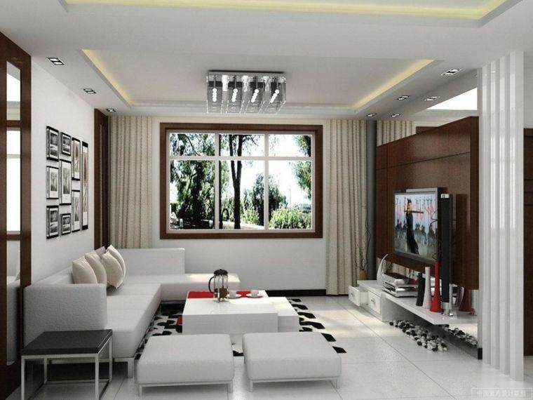iluminacion indirecta led salon pequeo con luces led - Iluminacion Led Salon