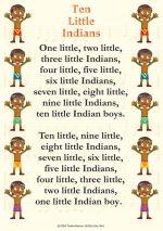 10 little indians nursery rhyme lyrics