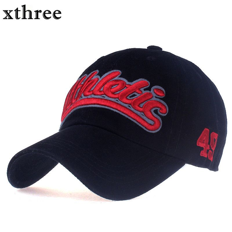 571209b0be6c1 Xthree 100% cotton women baseball cap casual snapback hat for men casquette  homme Letter embroidery