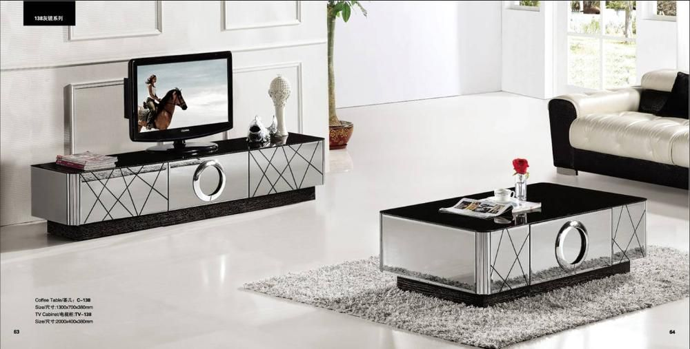 Living Rooms With Mirrored Furniture Furniture Coffee Table