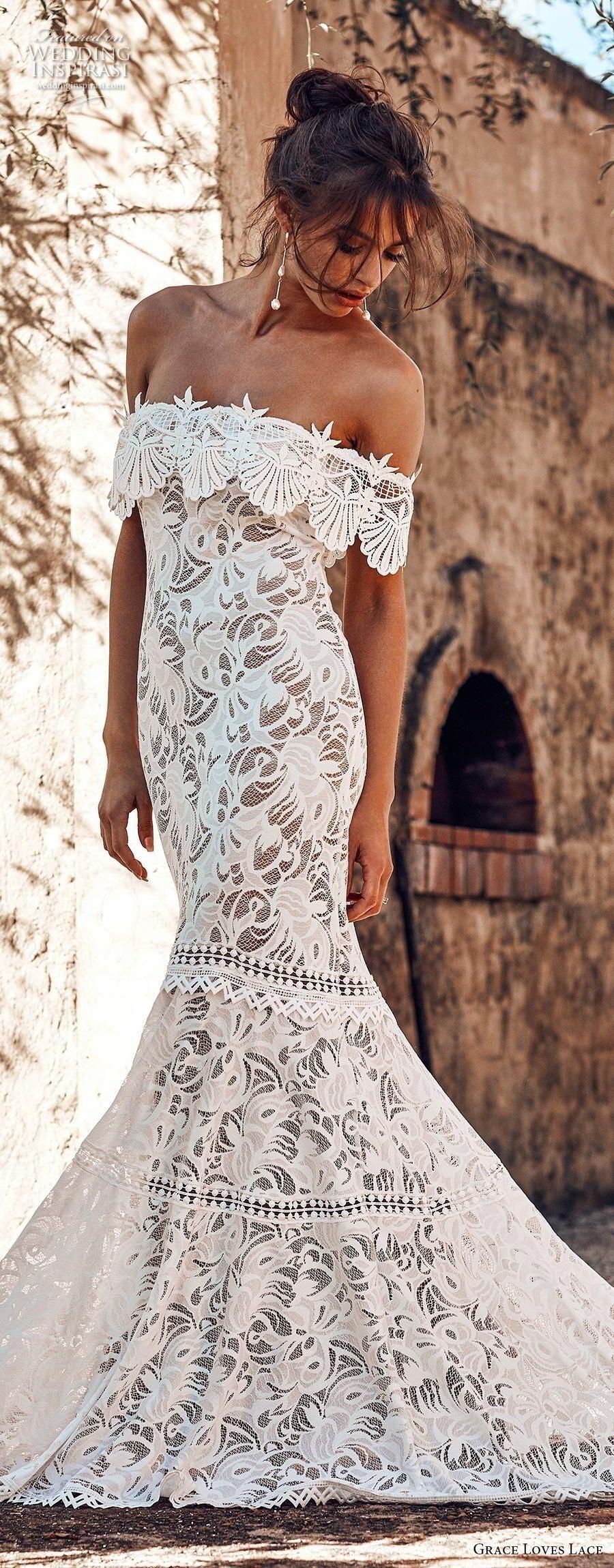 simple and unique mermaid wedding dress ideas wedding dress