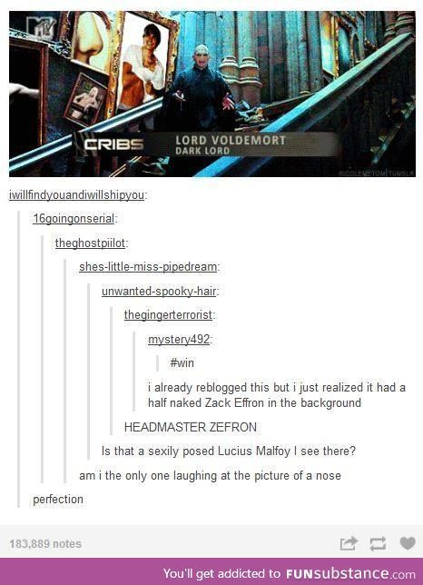 Yes, but how many people get the Zefron poster reference?